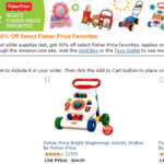 Fisher-Price Toys 50% Off!